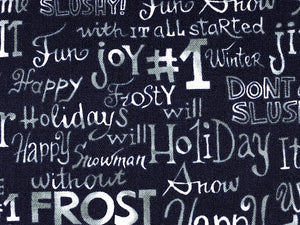 Close up of A Snow Family Christmas Blue