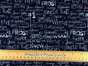 Ruler on A Snow Family Christmas Fabric