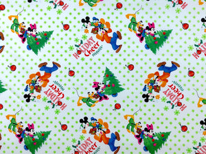 Mickey and Friends Trim the Tree Fabric