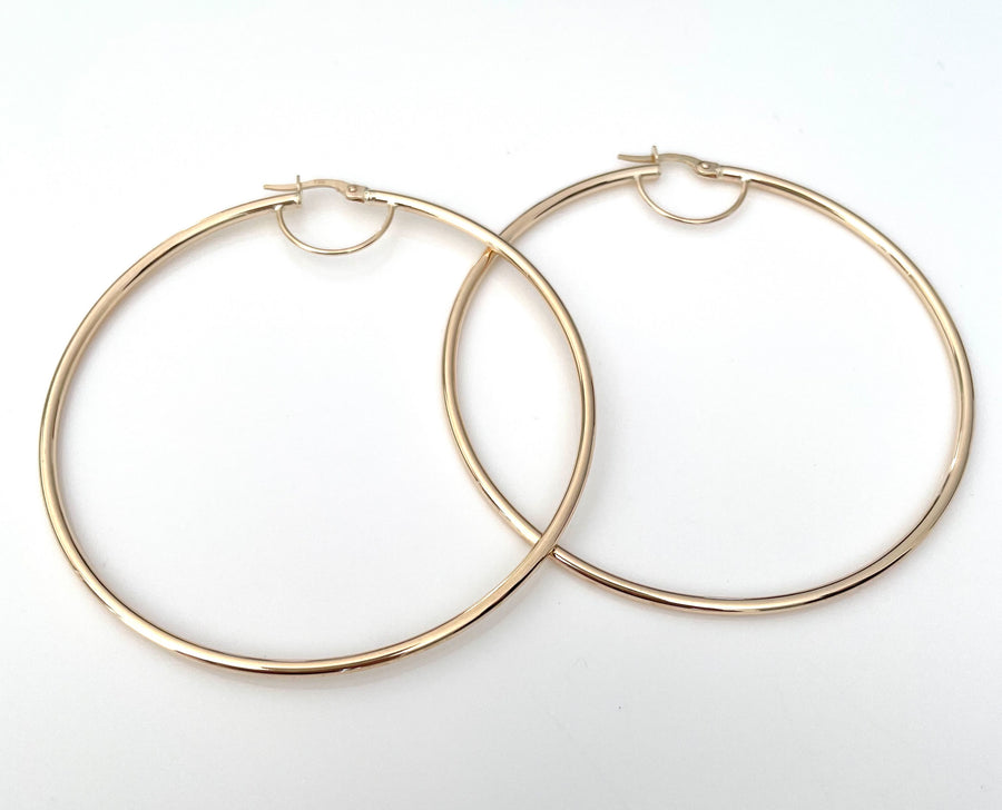 Pure Gold Thin Hoops