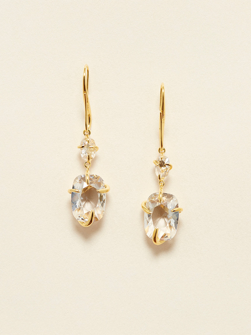 RS.11.I.E.009 | IRREGULAR SET CRYSTAL HOOK EARRINGS