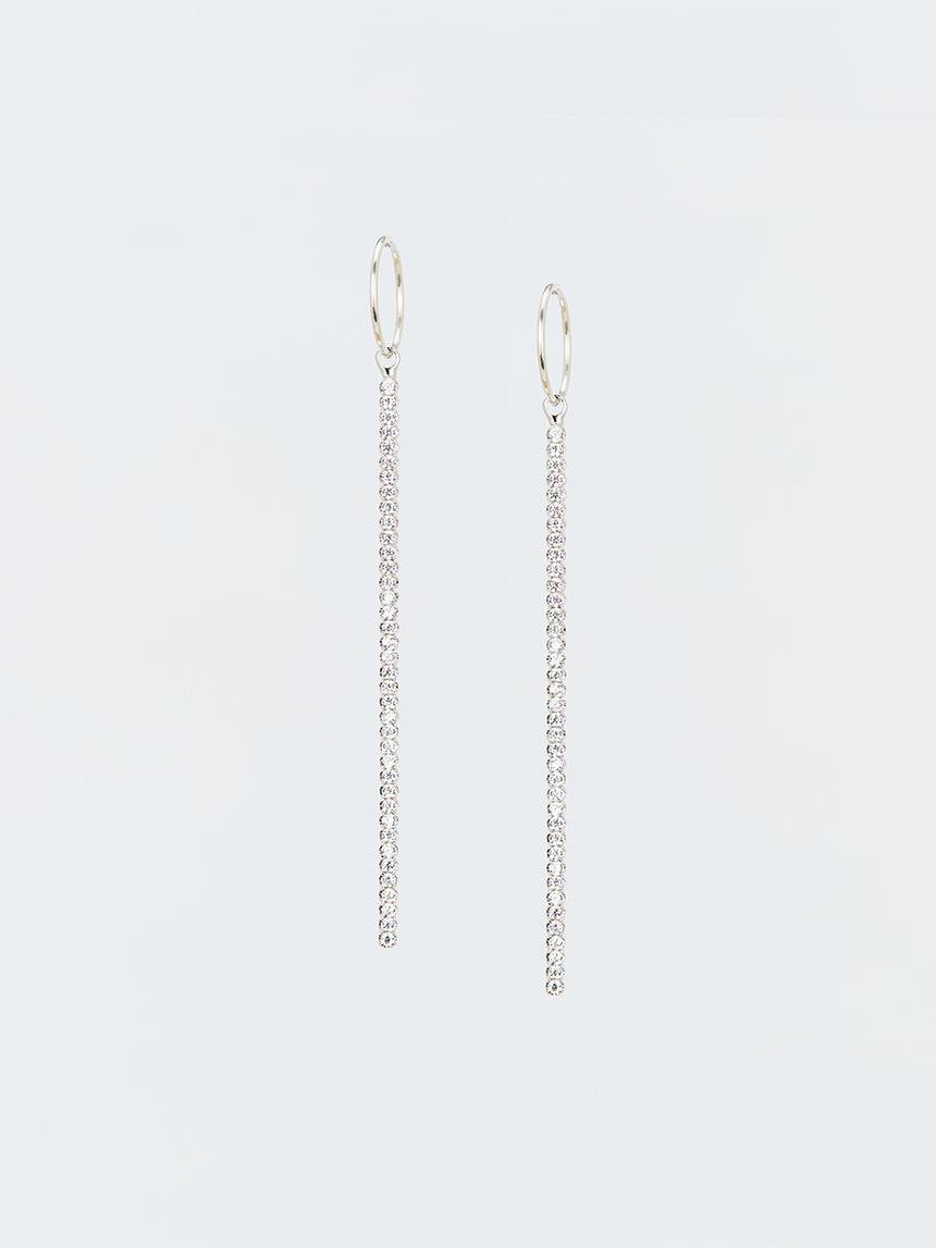 RS.IL.E.008 | HOOPS & CRYSTAL LINE BAR EARRINGS