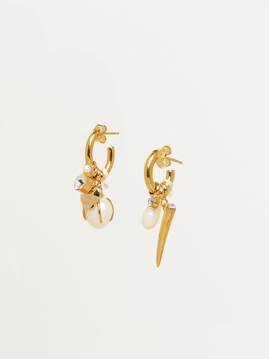 RS.LT.E.009 | MISMATCH CHARM HOOP EARRINGS