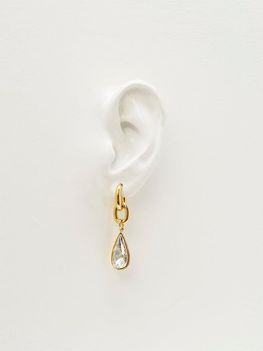 RS.NT.E.003 | LINK & TEAR DROP HOOP EARRINGS
