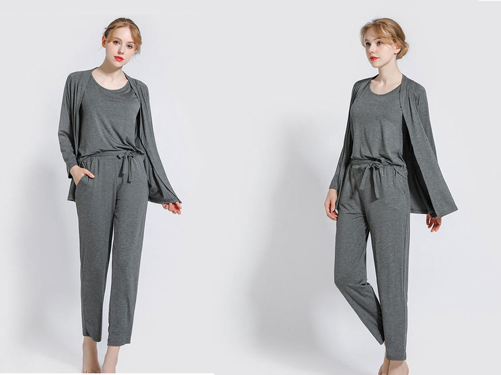 Damen Solid Modal Skims Loungewear Set