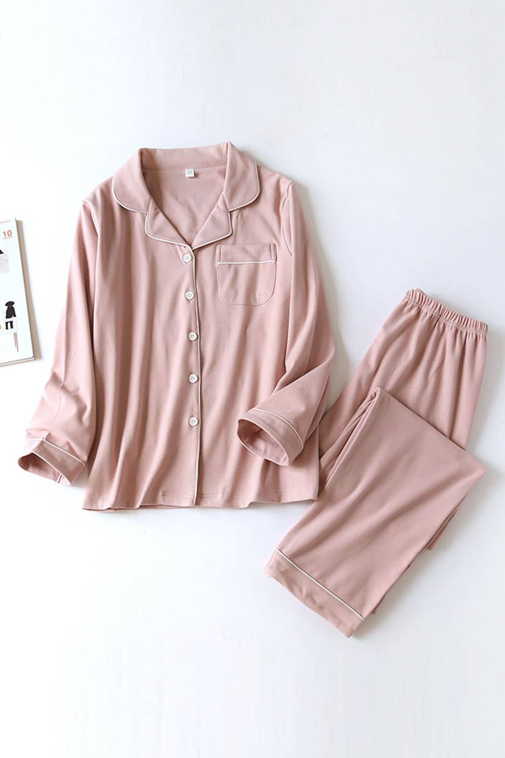 Fall Casual Long Sleeve Couple Pajamas Set