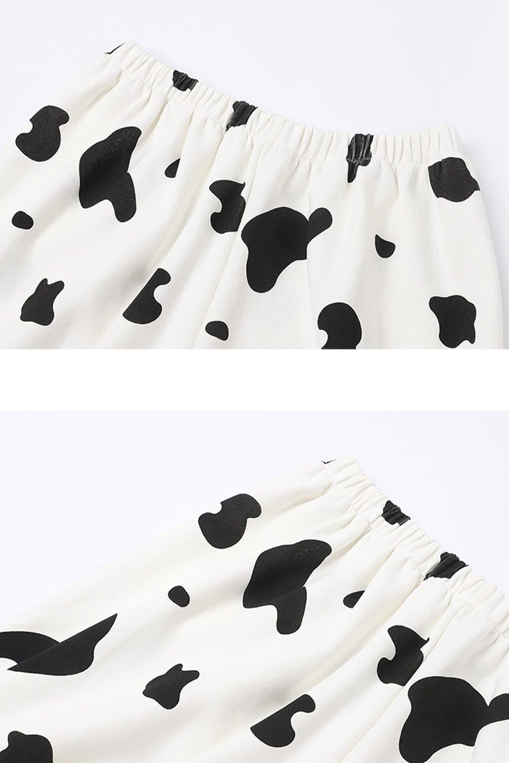 Fall Cow Print Long Sleeves Pajamas Set