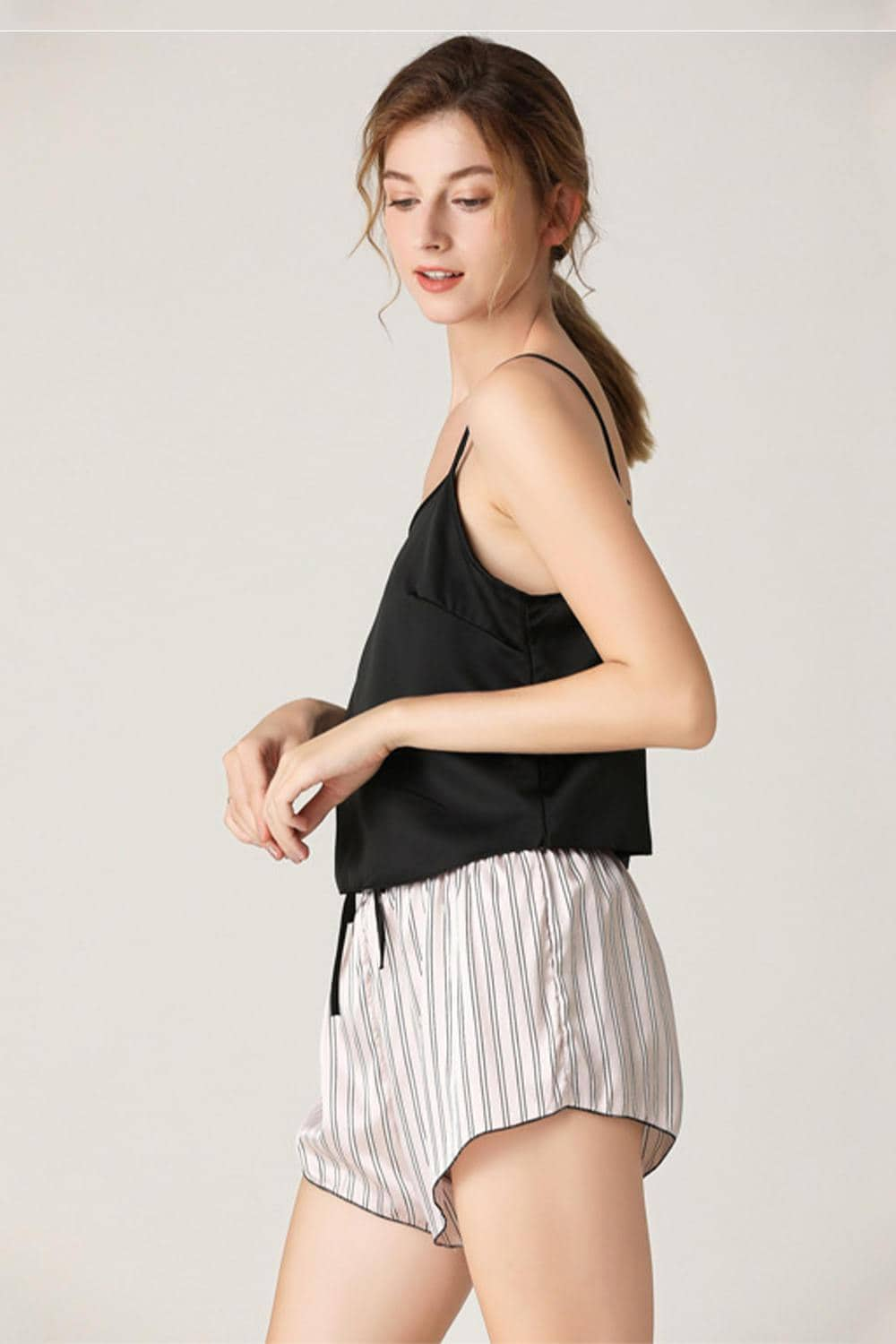 Summer Satin Stripe Short Pajamas