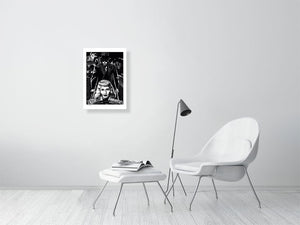 Film noir art drawing print of Double Indemnity A2 size