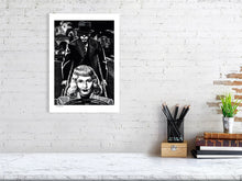 Load image into Gallery viewer, Film noir art drawing print of Double Indemnity A3 size