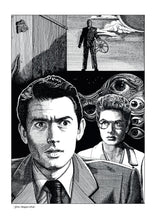 Load image into Gallery viewer, Film noir art drawing print of Spellbound by John Harbourne