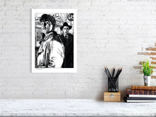 Load image into Gallery viewer, Film noir art drawing print of Out Of The Past A3 size