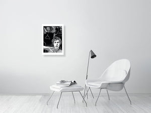Film noir art drawing print of Psycho a2 size