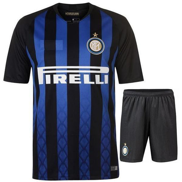 Original Inter Milan Premium Home Jersey and Shorts [Optional] 2018-19