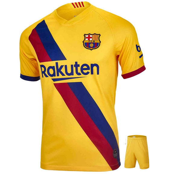 Kids/Youth Original Barcelona Premium Away Jersey & Shorts 2019/20