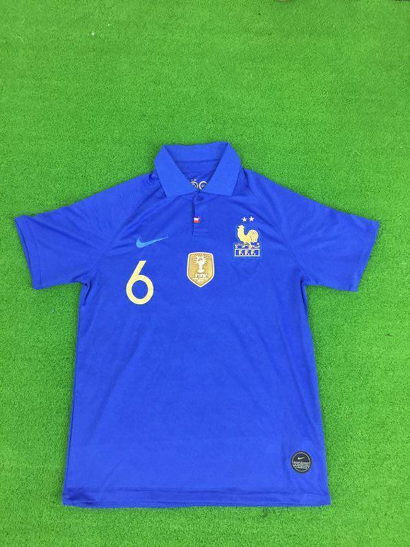 Original Pogba France 100years Special Edition International Home Jersey 2019 [Superior Quality]