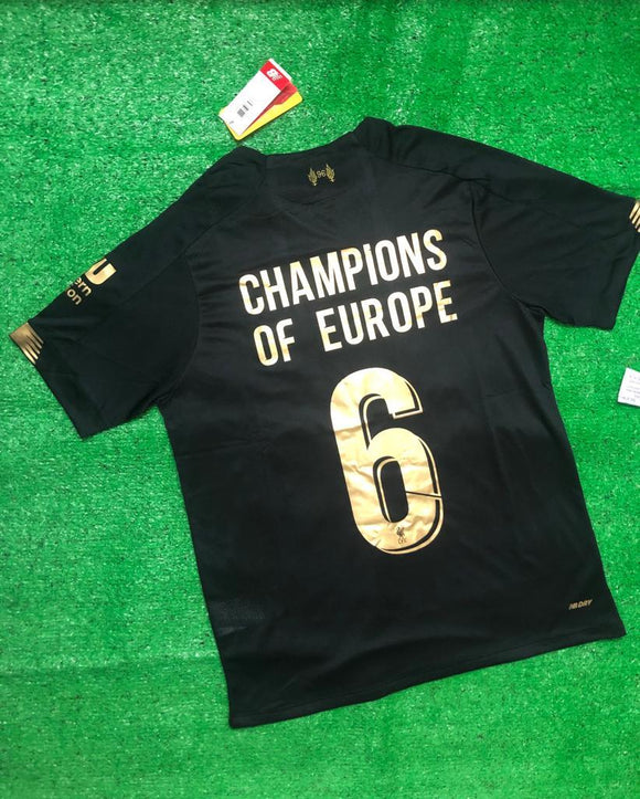 Original Liverpool Champions Of Europe Goalkeeper Jersey 2019/20 [Superior Quality]