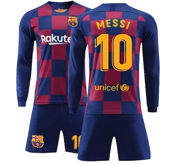 Original Messi Barcelona Premium Home Full Sleeve Jersey & Shorts [Optional] 2019/20