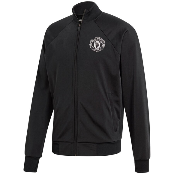 Original Manchester United Anthem Zipper Black & White Logo 2019/20