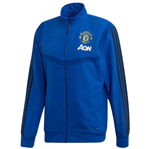 Original Manchester United Home Zipper Blue & Yellow Logo 2019/20