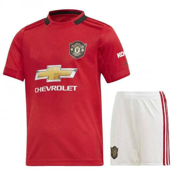 Kids/Youth Original Manchester United Premium Home Jersey & Shorts 2019/20