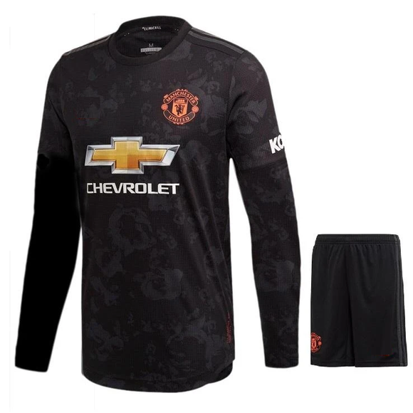 Original Manchester United Premium 3rd Full Sleeve Jersey & Shorts [Optional] 2019/20