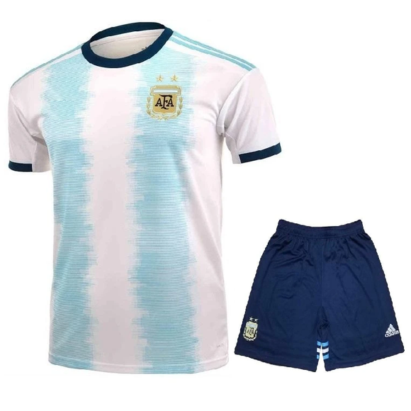 Kids/Youth Original Argentina Premium Home Jersey & Shorts 2019