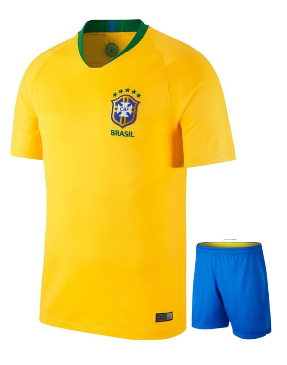 Original Brazil Premium Home Jersey & Shorts [Optional] World Cup 2018