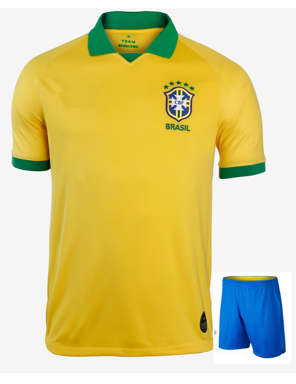 Original Brazil International Home Jersey & Shorts [Optional] Copa America 2019