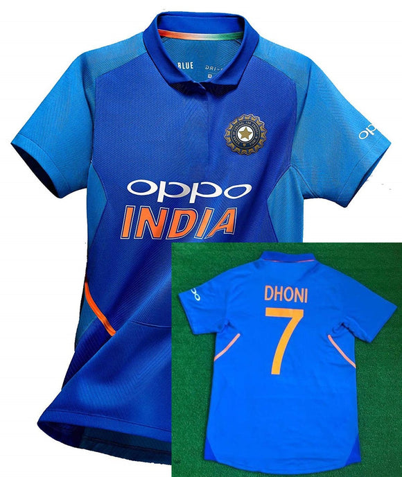Kids Original MS DHONI India International Cricket Jersey World Cup 2019 [Original Piece]