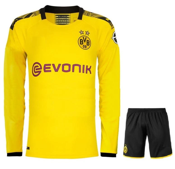 Original Dortmund Premium Home Full Sleeve Jersey & Shorts [Optional] 2019/20