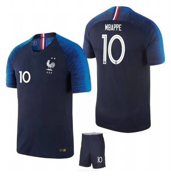 Original Mbappe France International Premium Home Jersey & Shorts [Optional]