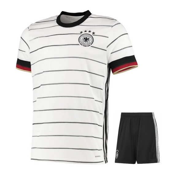 Original Germany International Premium Home Jersey & Shorts [Optional] Euro 2020