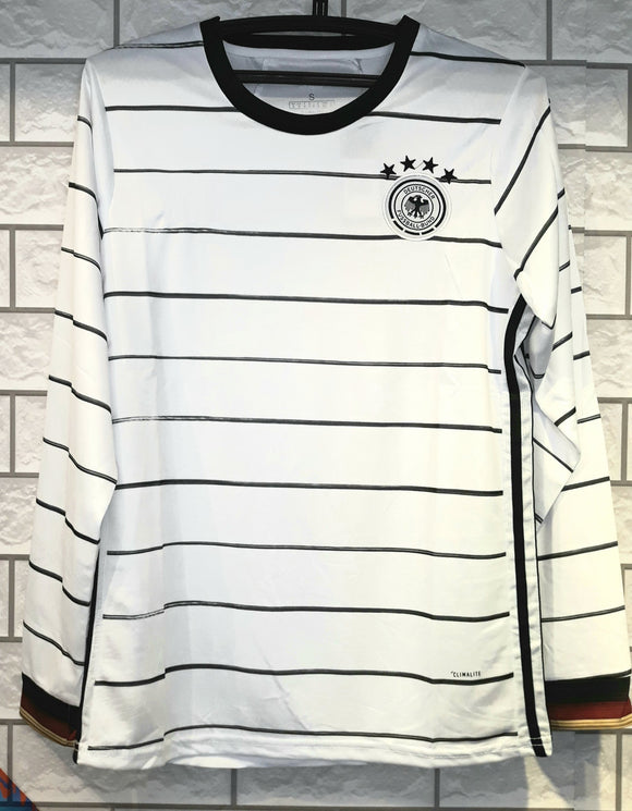Original Germany Premium Full Sleeve Home Jersey & Shorts [Optional] Euro 2020