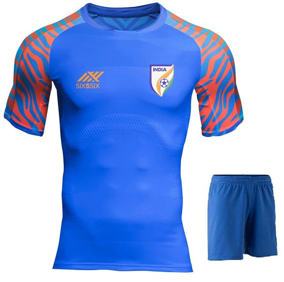 Kids/Youth Original India International Premium Home Jersey & Shorts 2019