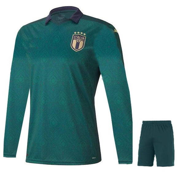Original Italy Full Sleeve Premium 3rd Jersey & Shorts [Optional] Euro 2020
