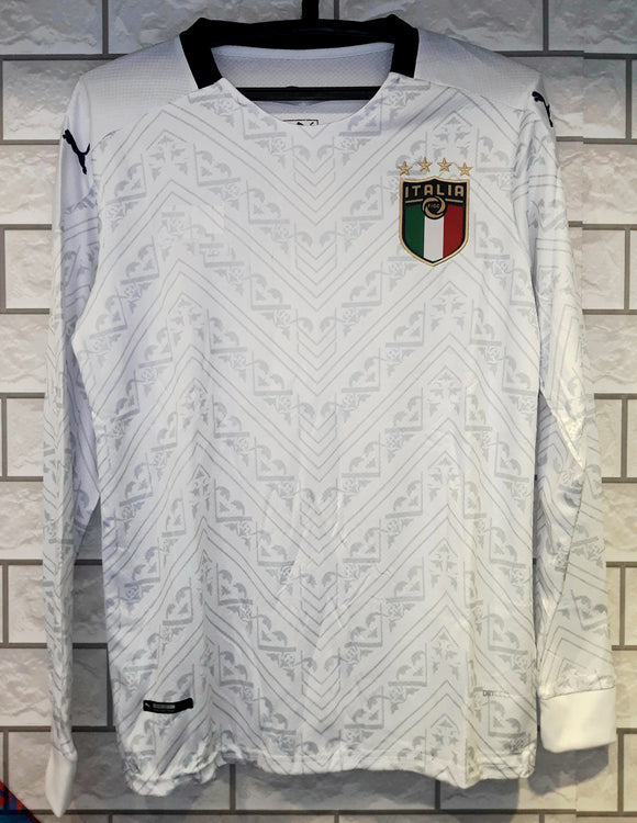 Original Italy Premium Away Full Sleeve Jersey & Shorts [Optional] Euro 2020