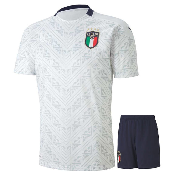 Original Italy Premium Away Jersey & Shorts [Optional] Euro 2020