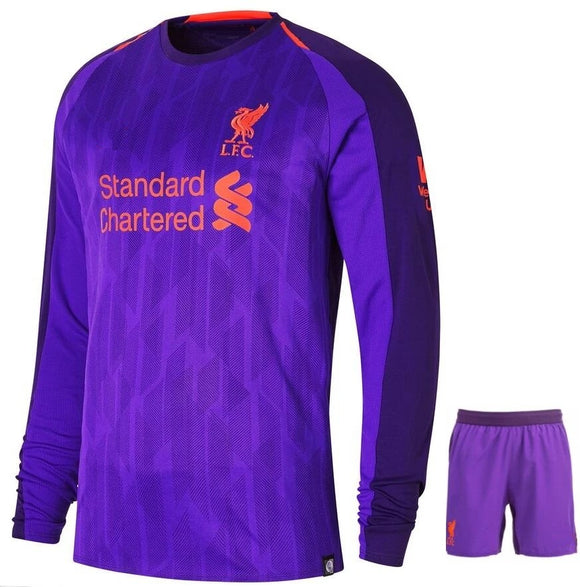 Original Liverpool Premium Away Full Sleeve Jersey and Shorts [Optional] 2018-19