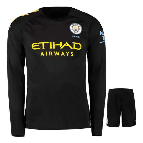 Original Manchester City Premium Full sleeve Away Jersey & Shorts [Optional] 2019/20