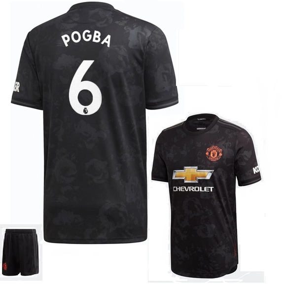 Original Pogba Manchester United Premium 3rd Jersey & Shorts [Optional] 2019/20