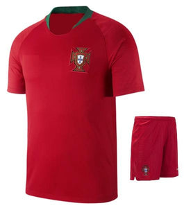 Portugal Home Football Jersey & Shorts FIFA World Cup 2018