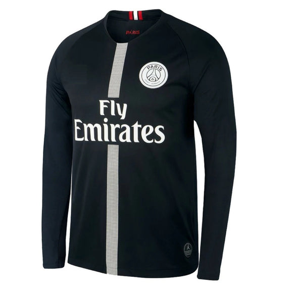 Original PSG Jordan X Black Full Sleeve Champions League Edition Jersey  2018-19 [Superior Quality]