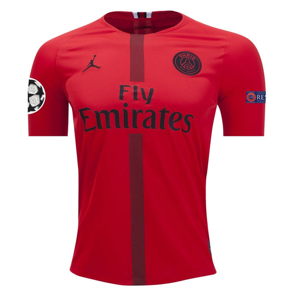 Original Jordan X Red PSG Champions League Edition Jersey  2018-19 [Superior Quality]