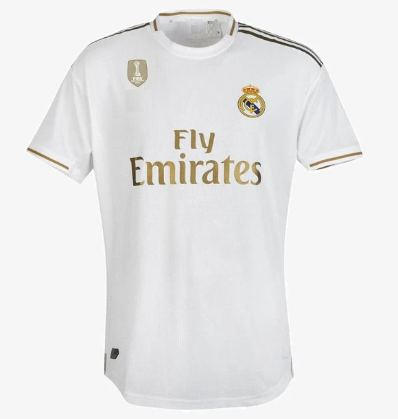 Original Real Madrid Home Jersey 2019/20 With Champions Badge & La liga Logo [Superior Quality]