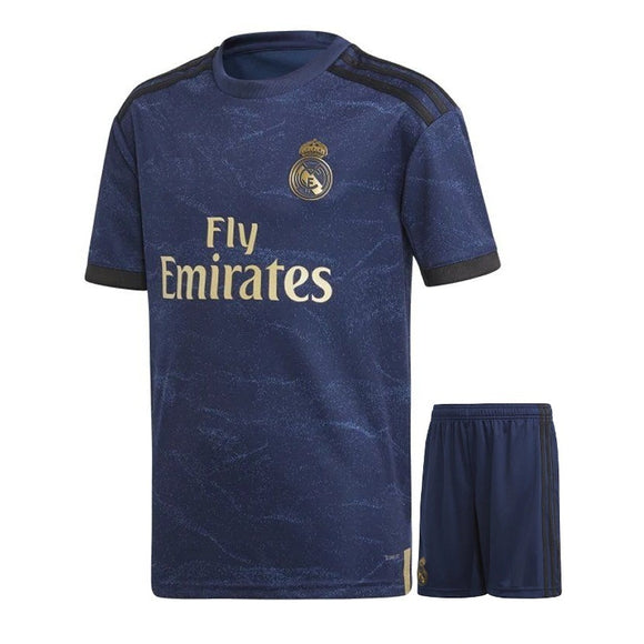 Kids/Youth Original Real Madrid Away Premium Home Jersey & Shorts 2019/20