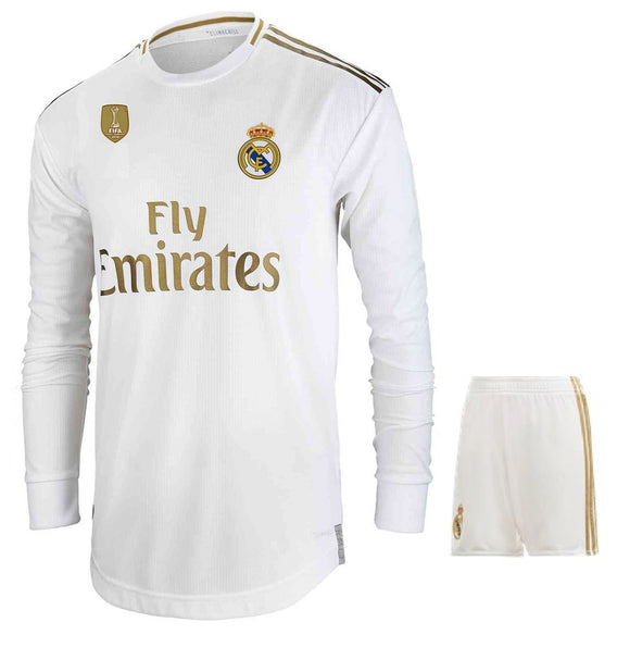 Original Real Madrid Premium Full Sleeve Home Jersey & Shorts [Optional] 2019/20