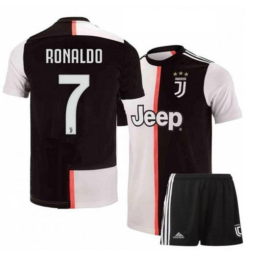 Kids/Youth Original Ronaldo Juventus Premium Home Jersey & Shorts 2019/20
