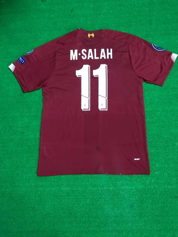 Original M. Salah Liverpool Home [With Champions League Badges] 19/20 [Superior Quality]