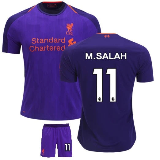 Original Mo Salah Liverpool Premium Away Jersey & Shorts [Optional] 2018-19